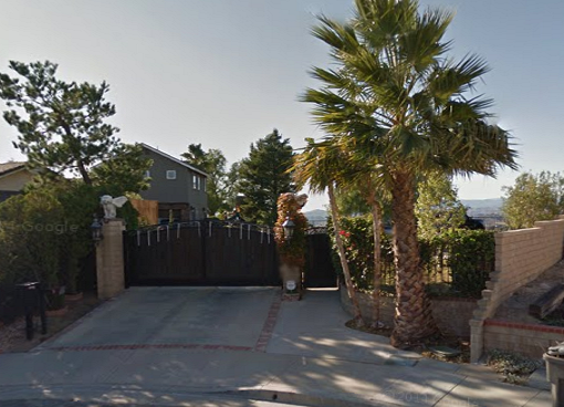 Defendant's Alamoto Circle residence