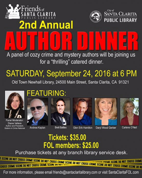 Author dinner flyer