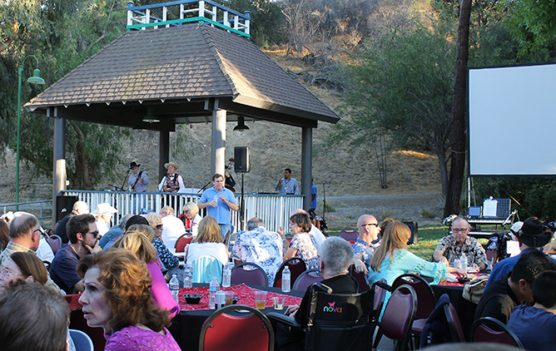 "More than 200 guests enjoyed entertainment by ""Mild Bill and the Mild Cats"" at Silents Under the Stars at Hart Hall in Newhall."