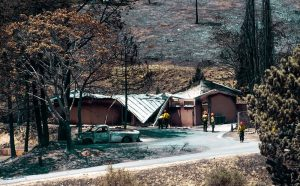 The destroyed homes of U.S. Forest Service firefighters at Bear Divide