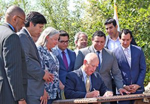 Gov. Jerry Brown signed my SB 32 and its companion bill AB 197 at a ceremony in Vista Hermosa Natural Park in Los Angeles.