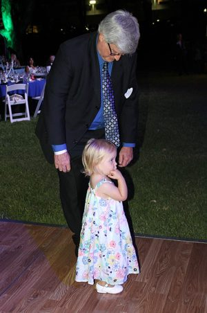 "Chris Hoefflin shares the dance floor with a ""tiny dancer."""