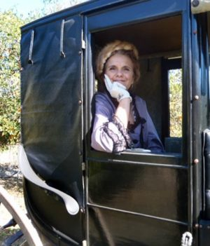 "connie tripp as ""ramona"" author helen hunt jackson, rancho camulos museum"