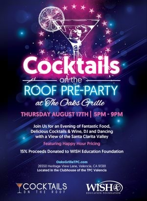 Cocktails on the Roof pre-party flyer