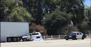 Fatal crash on Magic Mountain Parkway | Photo: KHTS