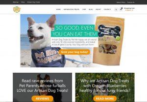 Pet Me Happy Treats website screen cap