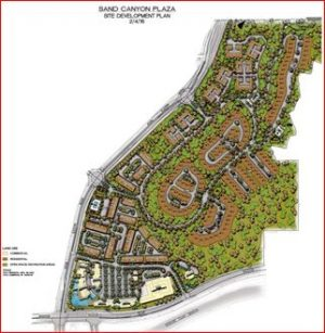 Sand Canyon Plaza map
