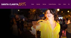 Santa Clarita Arts header