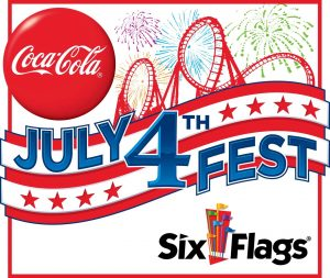 Six Flags Magic Mountain Fourth of July