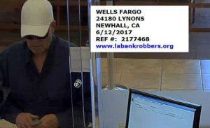 Wells Fargo Newhall bank robbery suspect - FBI photo
