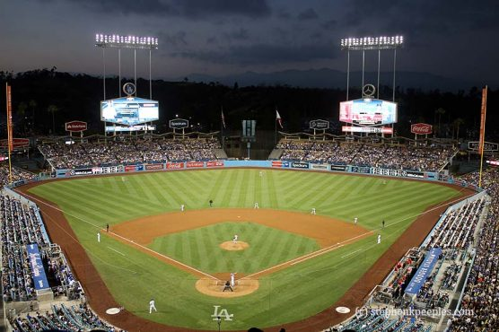 Dodger Stadium at night | Photo: Stephen K. Peeples