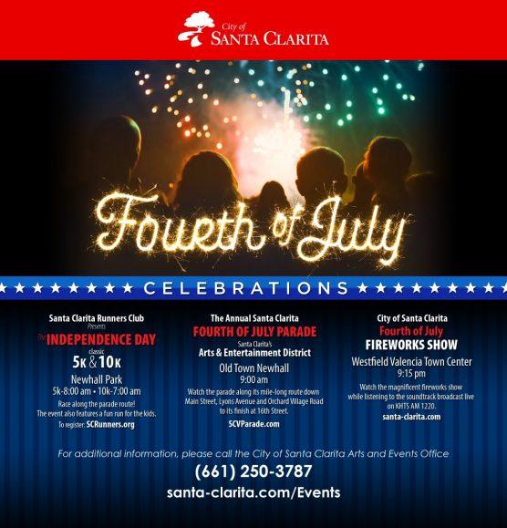 Santa Clarita Fourth of July flyer