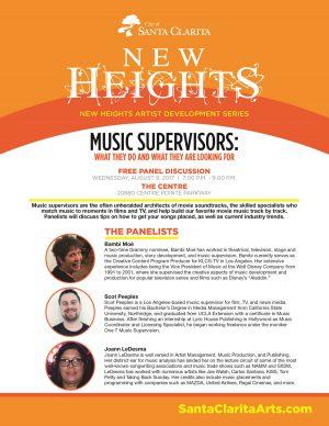 Music Supervisors Panel flyer