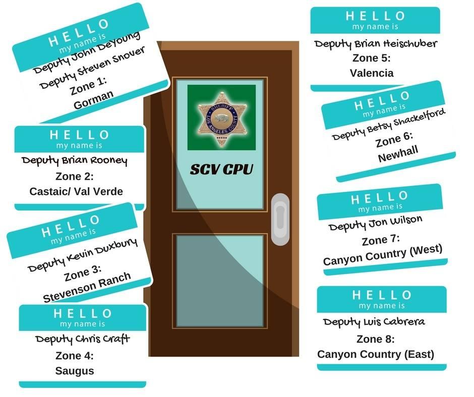 Santa Clatita Valley Sheriff's Station zones and leaders
