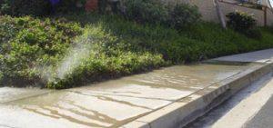water sprinkler runoff