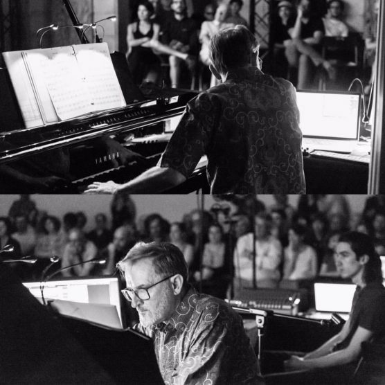 CalArts' David Rosenboom at the New York Electronic Festival, July 2017. | Photo: Cameron Kelly