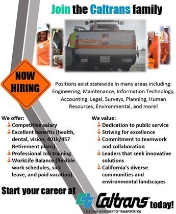 Caltrans hiring