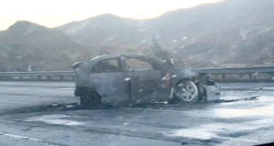 Fatal crash on Highway 14, Sunday, August 13, 2017.   Photo: Vincent Maita.