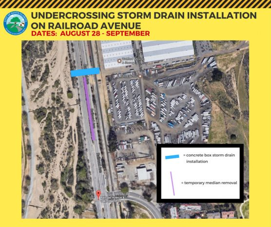 Railroad Avenue storm drain project map