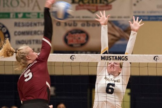 TMU women's volleyball file photo