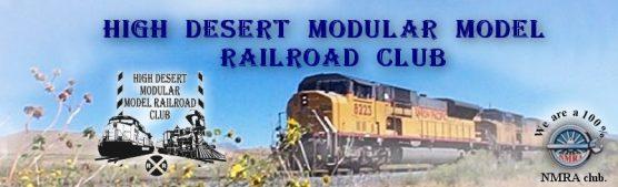 High Desert Modular Model Railroad Club banner