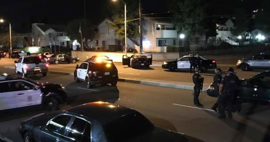 LAPD chase to Newhall | Photo: Caleb Lunetta/KHTS News