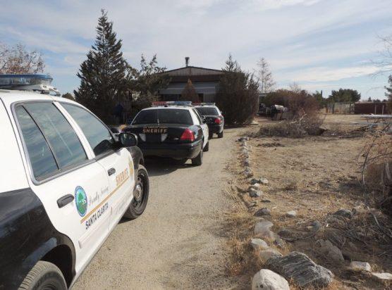 SCV Sheriff's Station Crime Prevention Unit deputies in Neenach