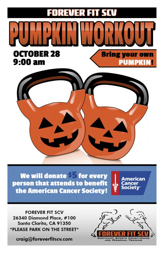 Forever Fit SCV Pumpkin Workout flyer