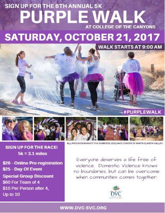 Purple Walk of Strength