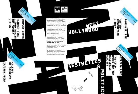CalArts WHAP!! lecture series poster
