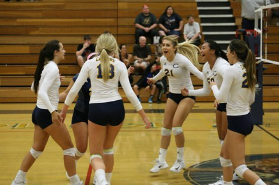 Moorpark College vs COC women's volleyball