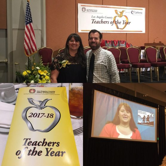 Northlake Elementary teacher Erin Oxhorn-Gilpin was honored in September by Los Angeles County.