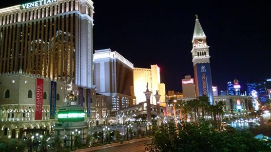 Las Vegas Strip at night. | Photo: Stephen K. Peeples