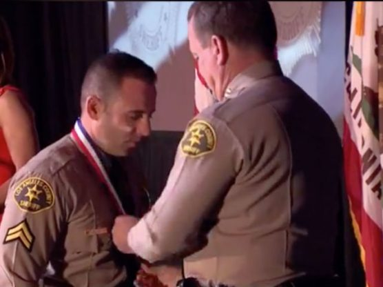 SCV Sheriff's Station Deputy Dmitry Barkon received Medal of Valor
