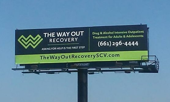 The Way Out Recovery SCV billboard