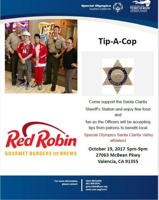 Tip a Cop for Special Olympics SCV