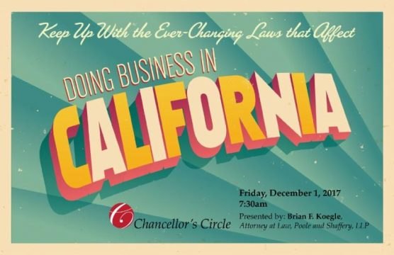 SCV Chamber business law update flyer