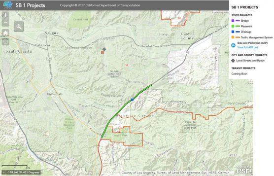 Caltrans SB 1 Local Transportation Project Map