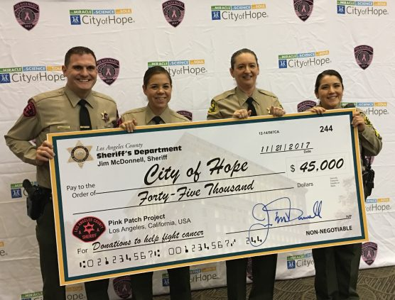 LASD Circle of Hope Pink Patch Project donation