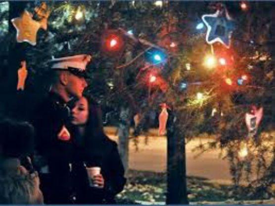 Military Christmas Tree and Menorah Lighting