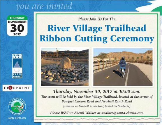 River Village Trailhead ribbon-cutting dedication ceremony, Nov. 30, 2017