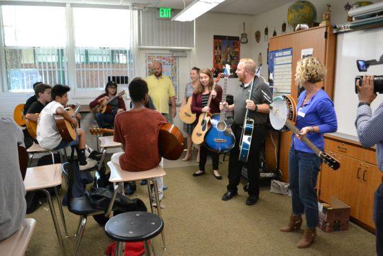 WiSH guitars donation to Sierra Vista
