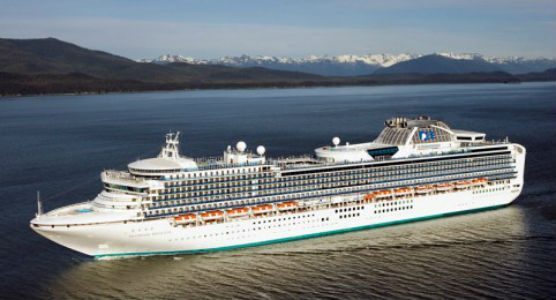covid-19 update - Princess Cruises' Diamond Princess on an earlier voyage.