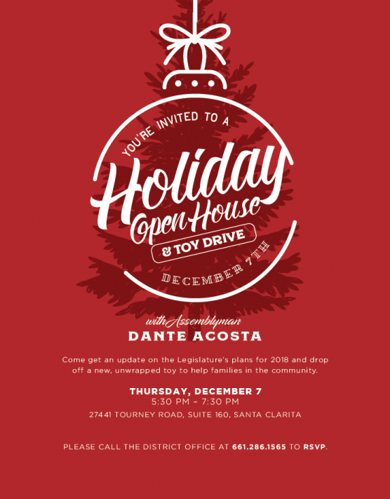 Dante Acosta open house and toy drive 2017
