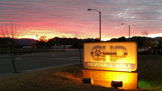 CHP Newhall office sunset firearm charges