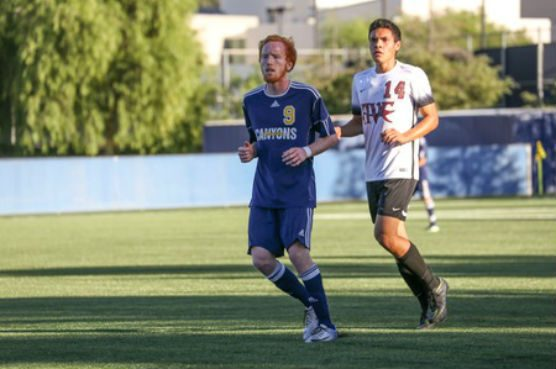 College of the Canyons soccer forward Aaron Winsick