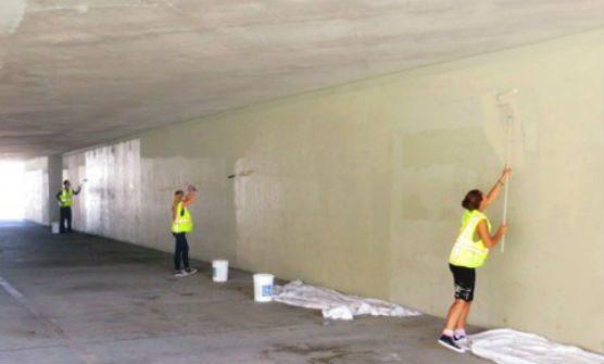 community service - graffiti cleanup