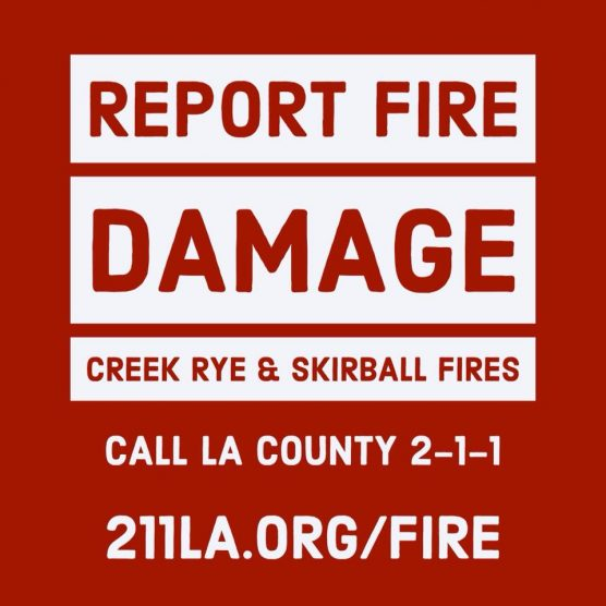 report fire damage to 2-1-1
