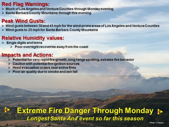 National Weather Service extreme fire danger warning 12-10-17