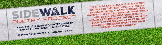 sidewalk poetry project